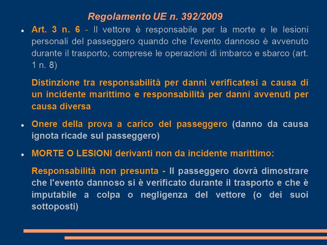 Regolamento UE n. 392/2009