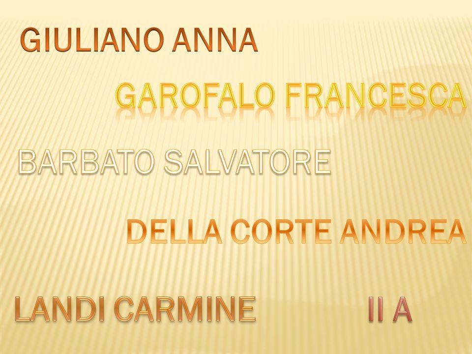 GIULIANO ANNA GAROFALO FRANCESCA BARBATO SALVATORE DELLA CORTE ANDREA LANDI CARMINE II A