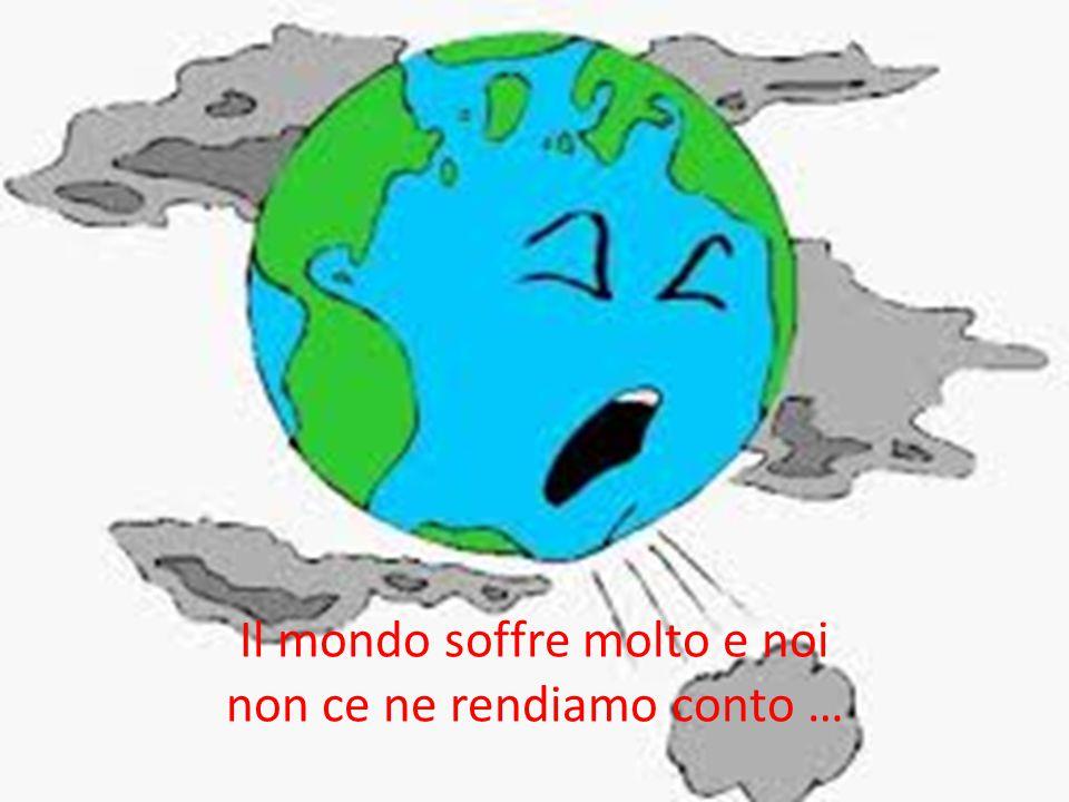 Il mondo soffre molto e noi non ce ne rendiamo conto …