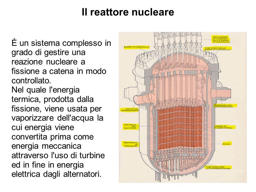 Il reattore nucleare È un sistema complesso in grado di gestire una reazione nucleare a fissione a catena in modo controllato.