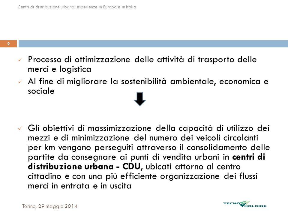 Centri di distribuzione urbana: esperienze in Italia e in Europa