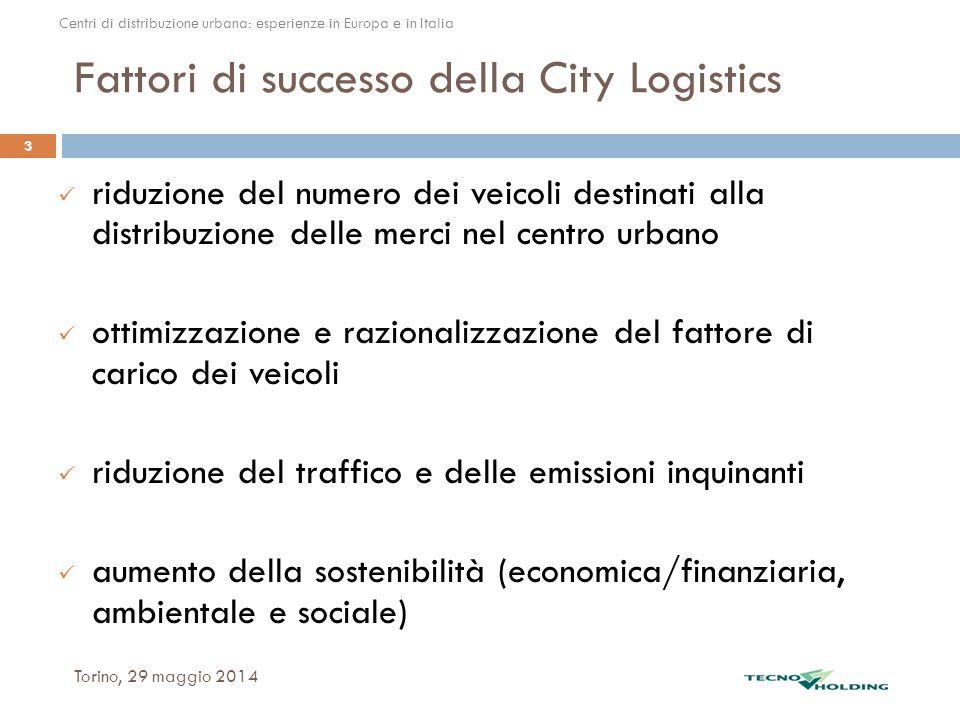 Fattori di successo della City Logistics