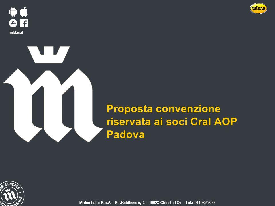 riservata ai soci Cral AOP Padova
