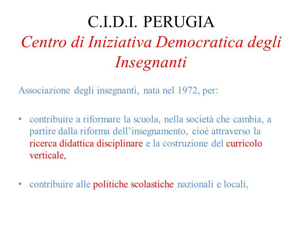 C.I.D.I. PERUGIA Centro di Iniziativa Democratica degli Insegnanti