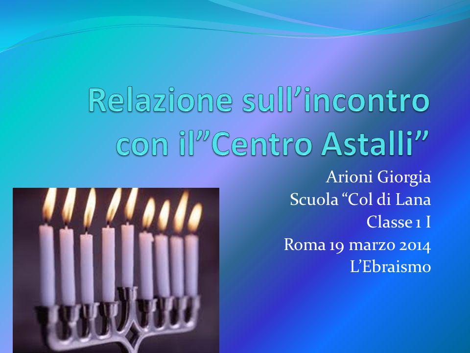 Relazione sull'incontro con il Centro Astalli
