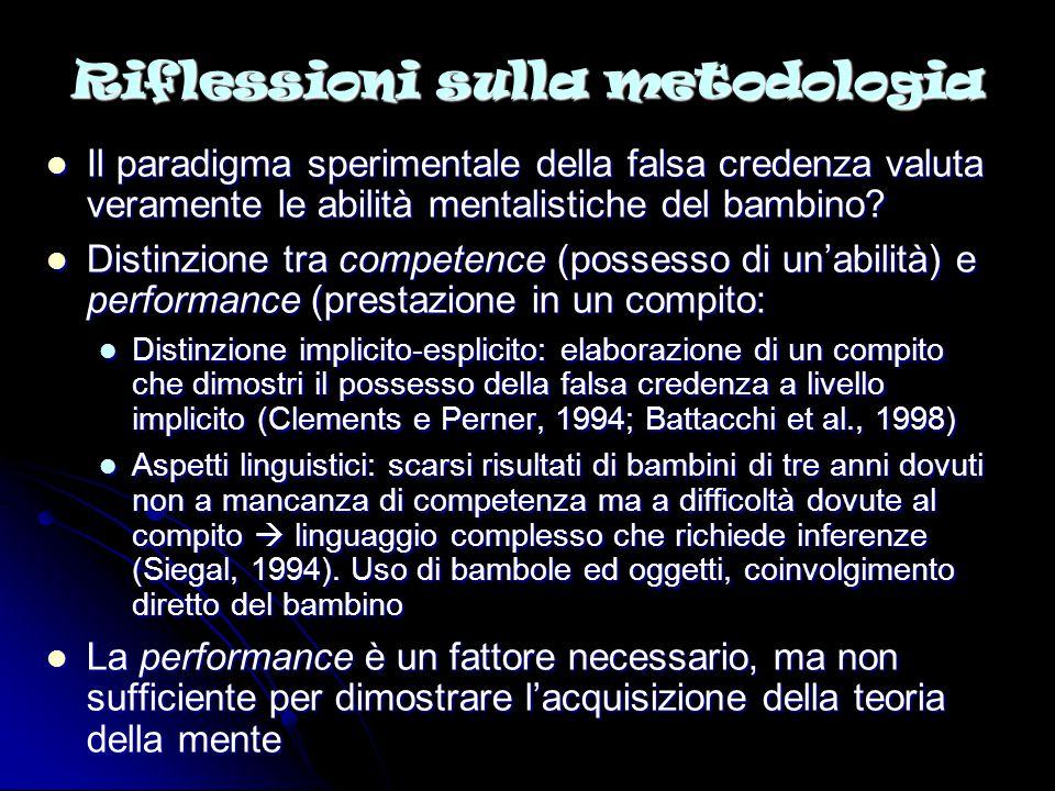 Riflessioni sulla metodologia