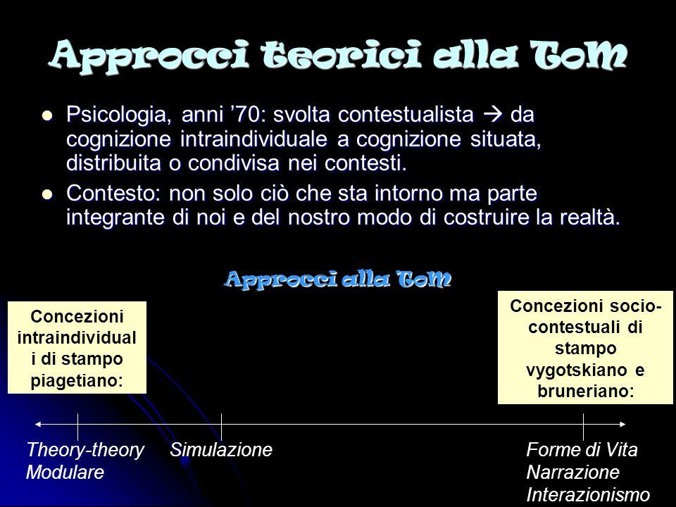 Approcci teorici alla ToM