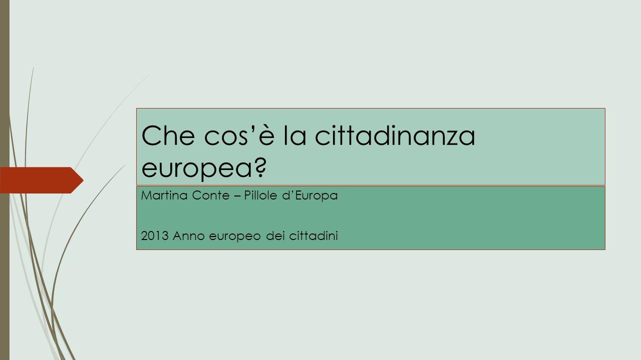 Che cos'è la cittadinanza europea