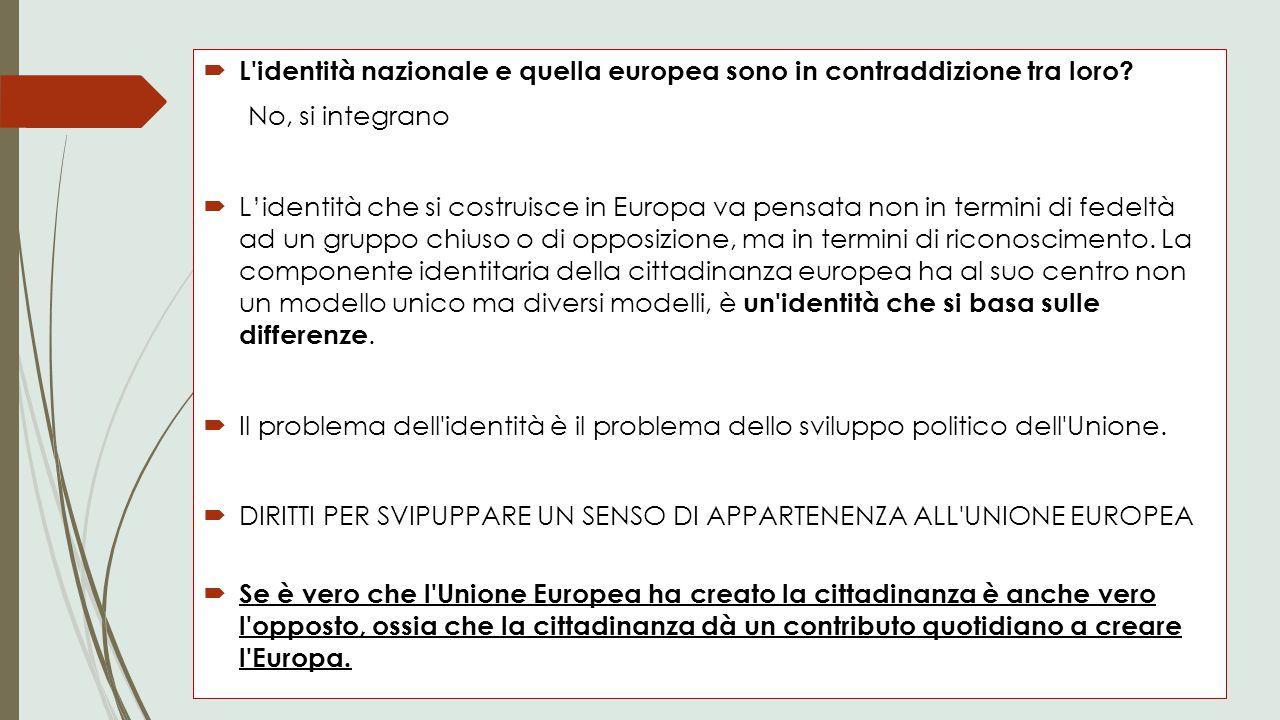 L identità nazionale e quella europea sono in contraddizione tra loro