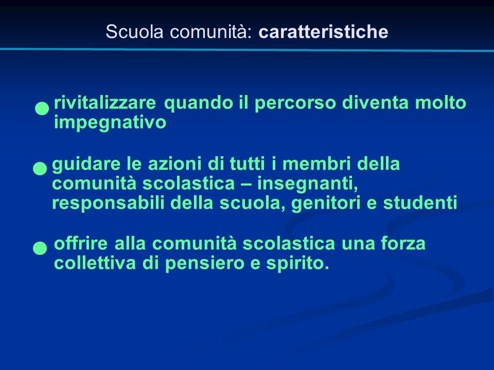 Scuola comunità: caratteristiche