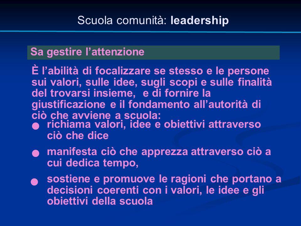 Scuola comunità: leadership