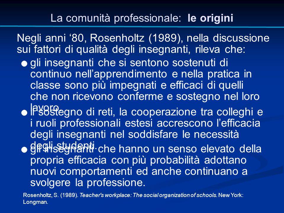 La comunità professionale: le origini