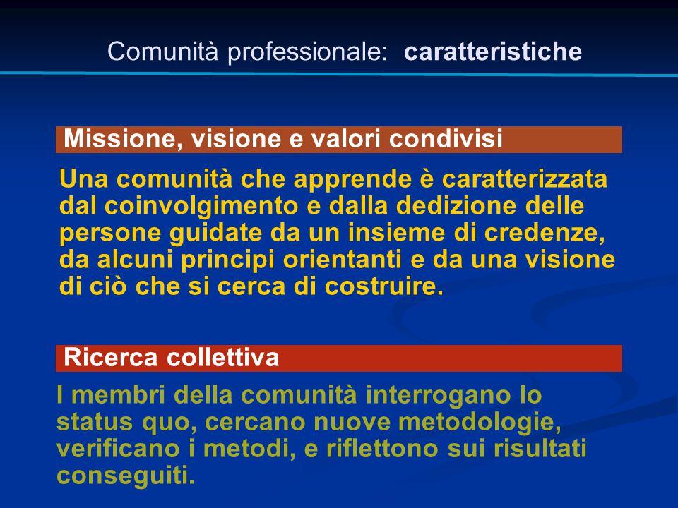 Comunità professionale: caratteristiche