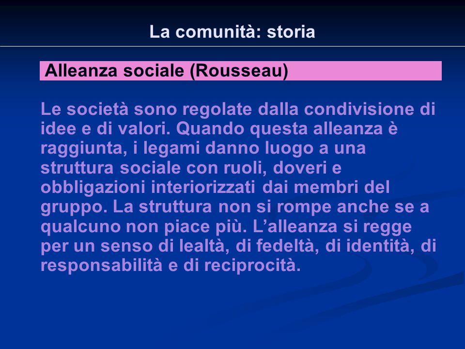 La comunità: storia Alleanza sociale (Rousseau)