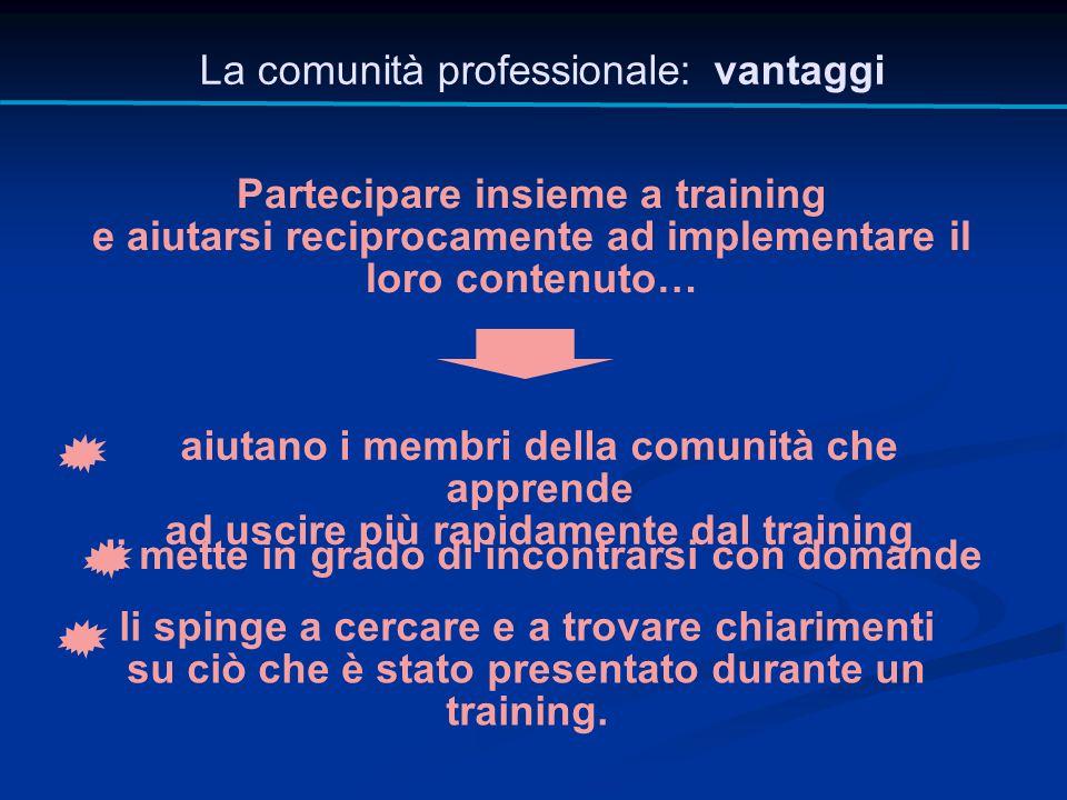 La comunità professionale: vantaggi