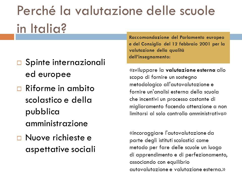 Perché la valutazione delle scuole in Italia