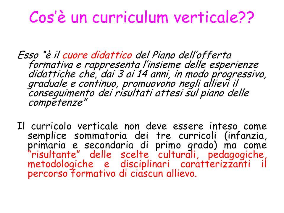 Cos'è un curriculum verticale