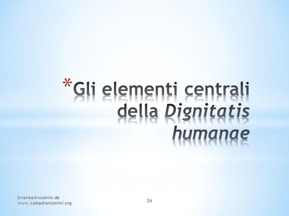 Gli elementi centrali della Dignitatis humanae