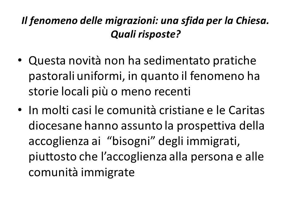 Il fenomeno delle migrazioni: una sfida per la Chiesa. Quali risposte