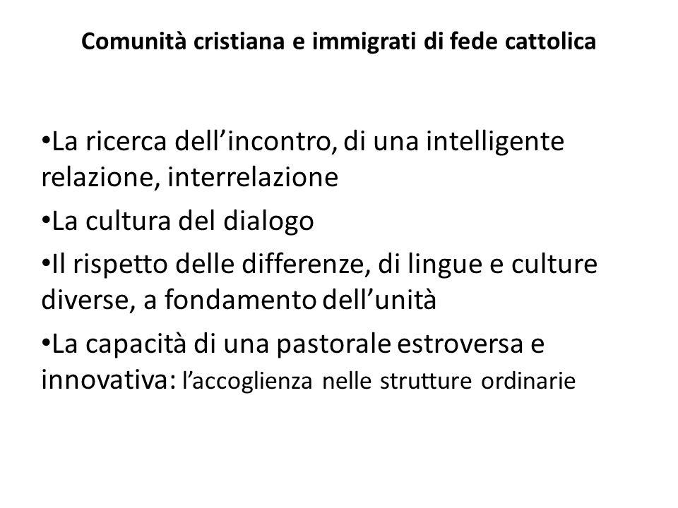 Comunità cristiana e immigrati di fede cattolica