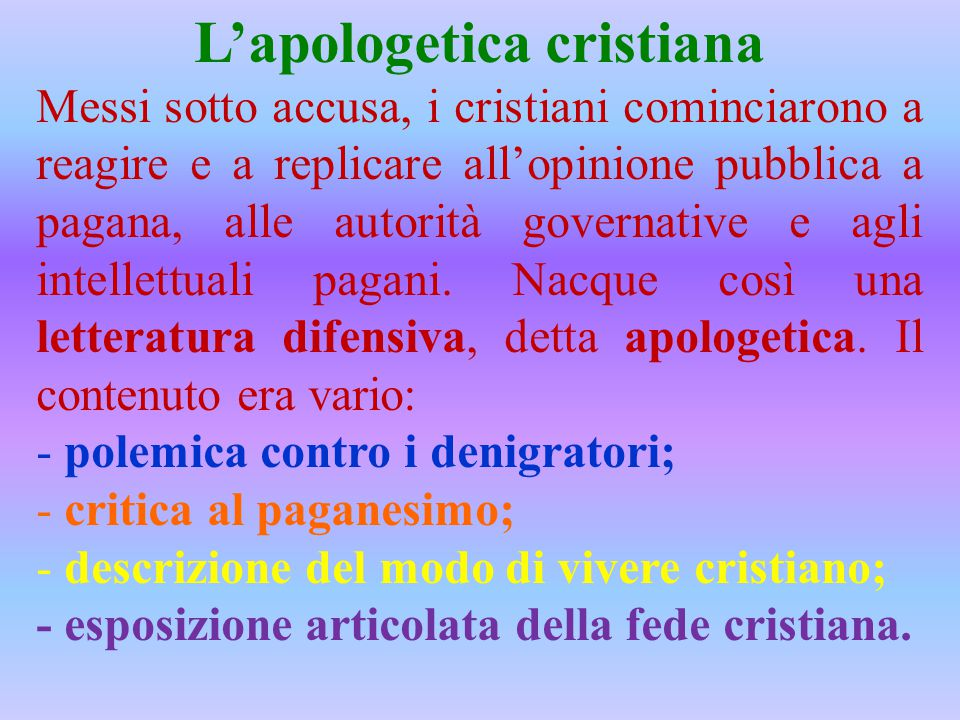L'apologetica cristiana