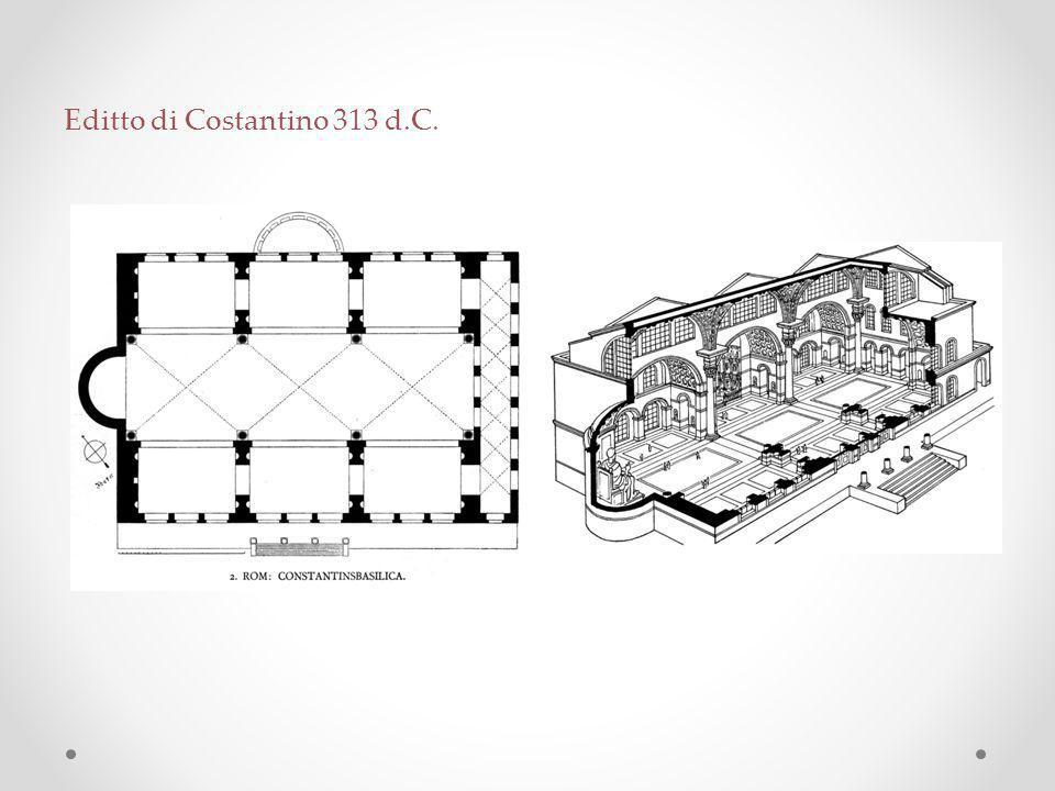 Editto di Costantino 313 d.C.