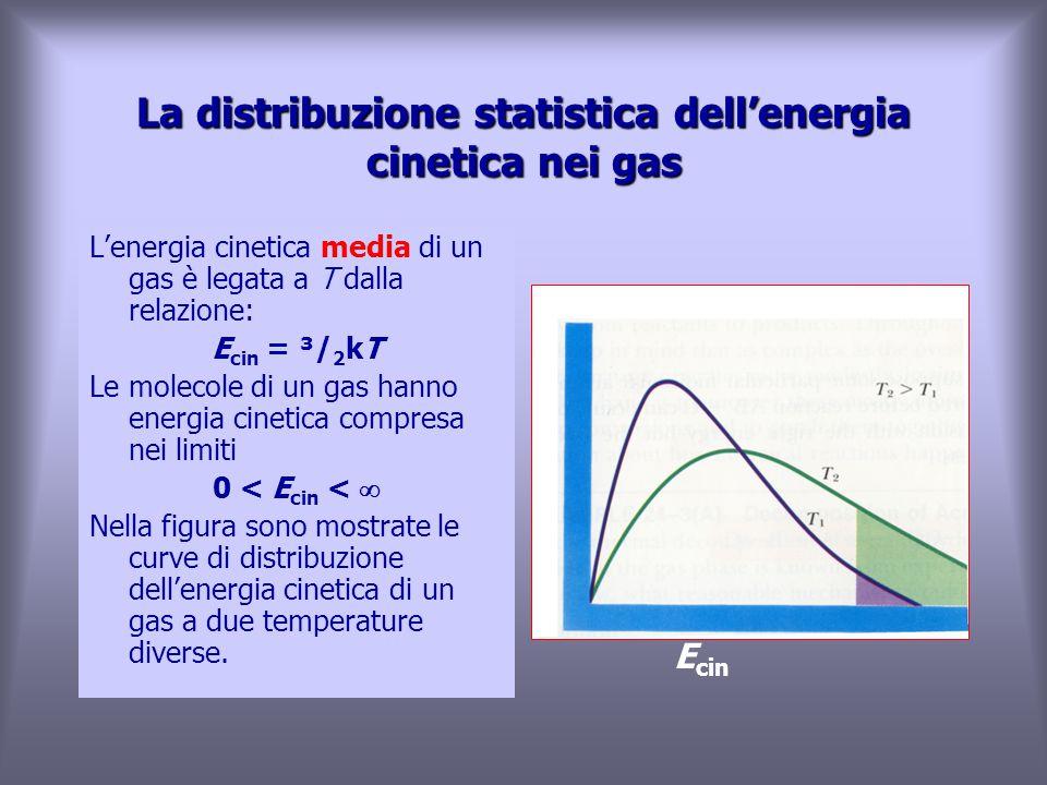 La distribuzione statistica dell'energia cinetica nei gas