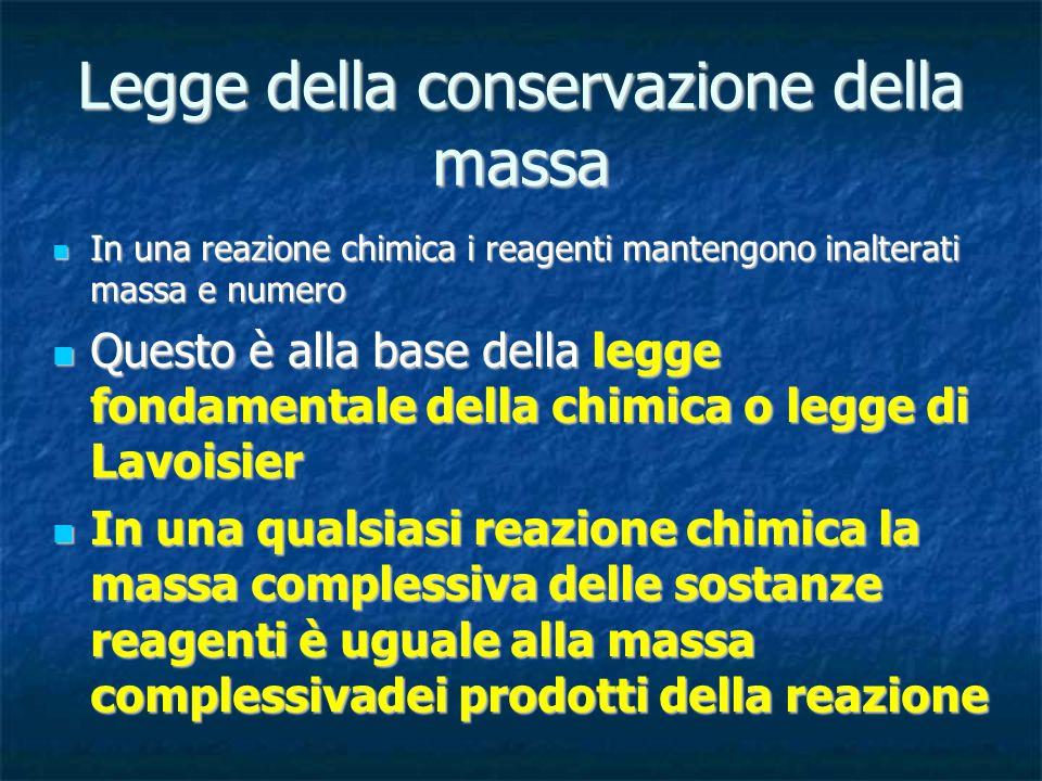 Legge della conservazione della massa