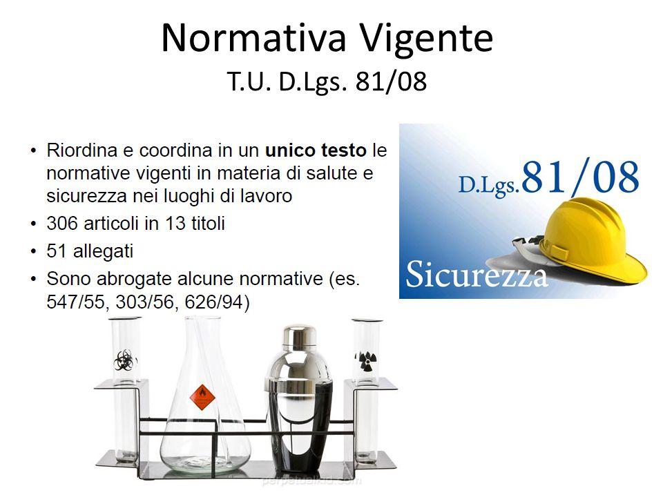 Normativa Vigente T.U. D.Lgs. 81/08