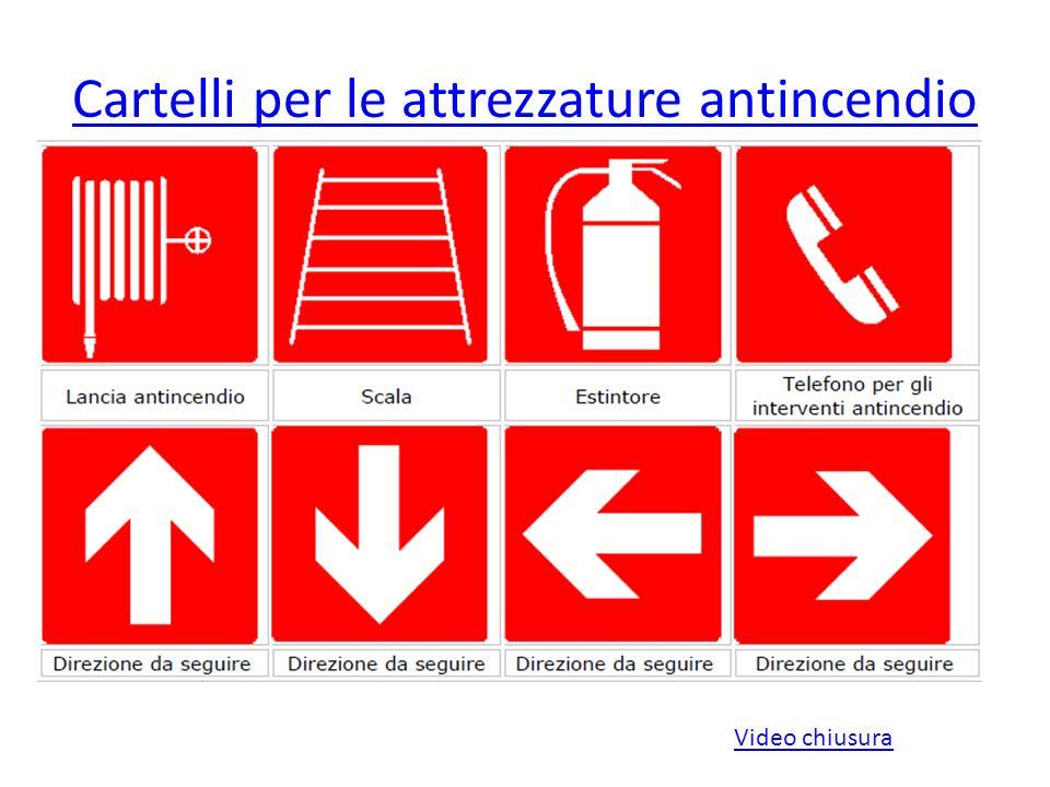 Cartelli per le attrezzature antincendio