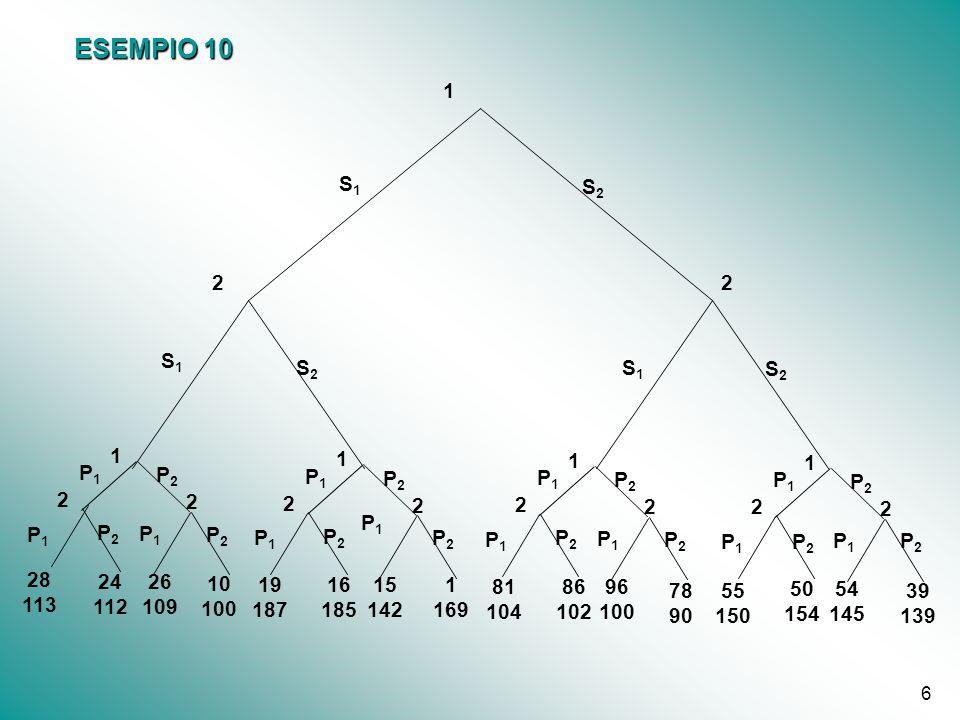 ESEMPIO 10 P1. P2. 1. 169. 86. 102. 19. 187. 50. 154. 78. 90. 2. S1. S2. 28. 113. 24.