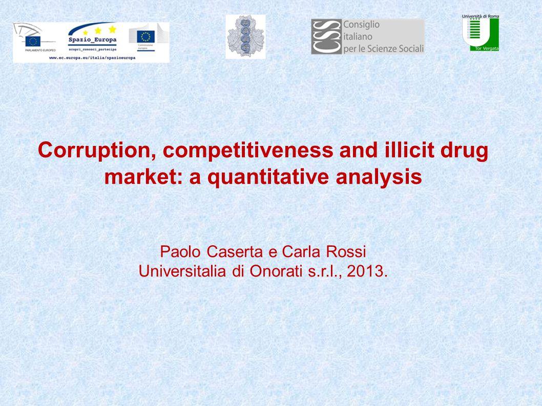 Corruption, competitiveness and illicit drug market: a quantitative analysis