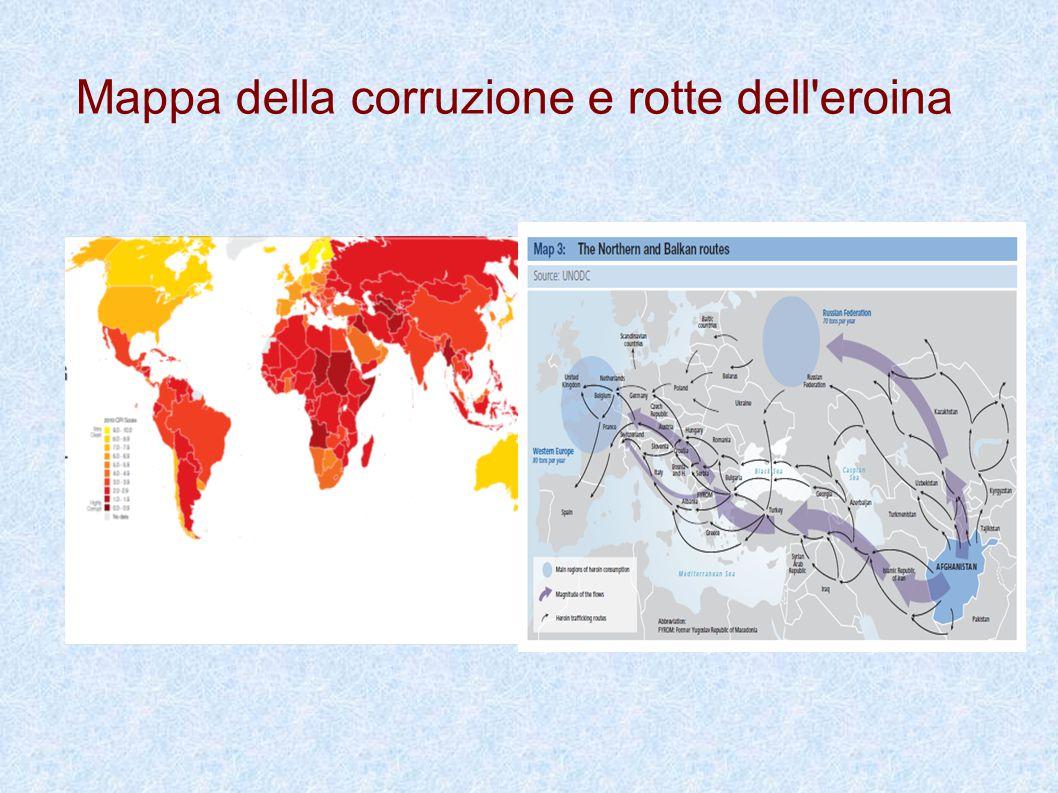 Mappa della corruzione e rotte dell eroina