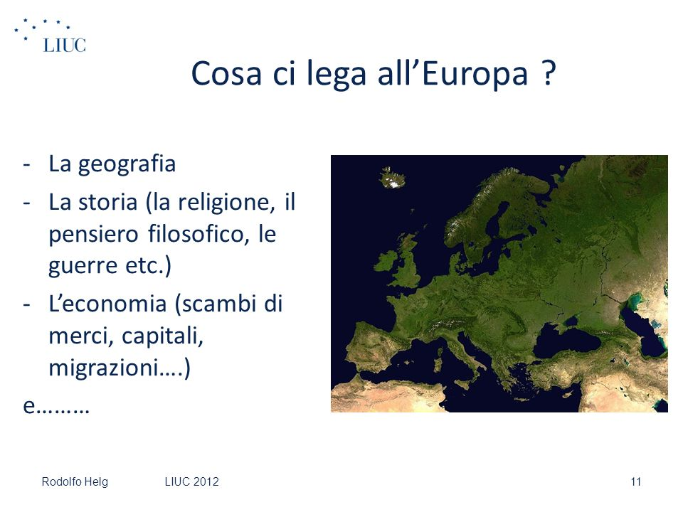 Cosa ci lega all'Europa