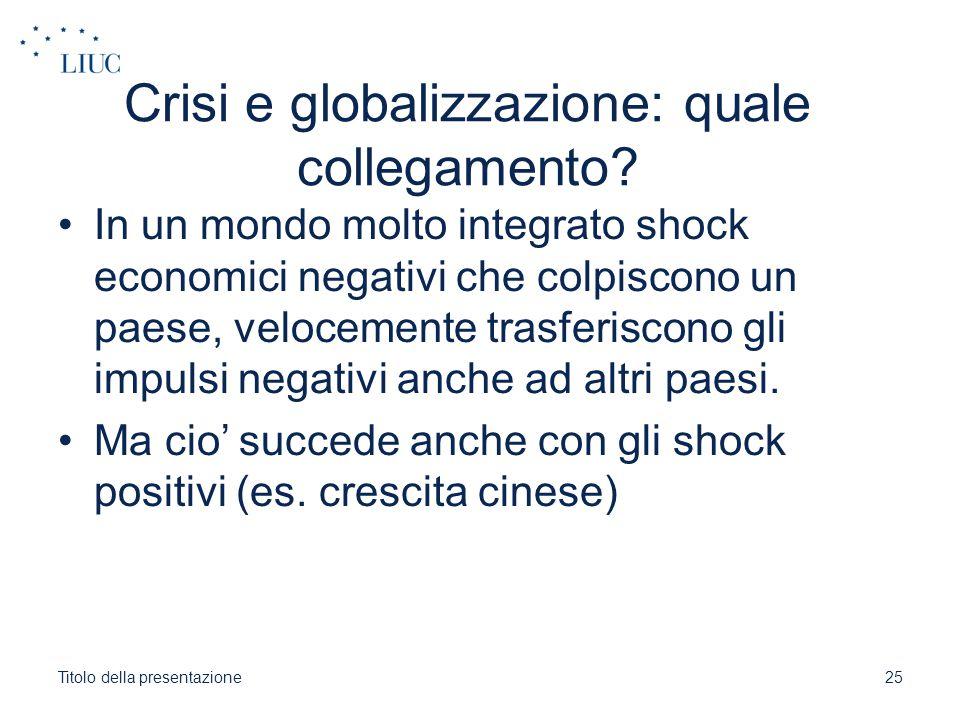 Crisi e globalizzazione: quale collegamento
