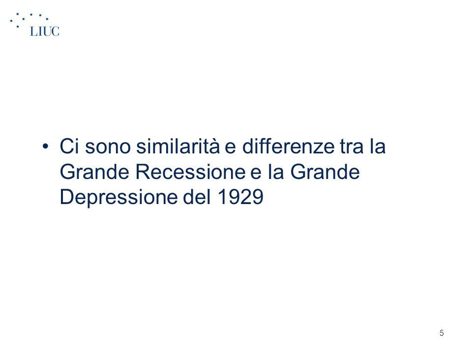 Ci sono similarità e differenze tra la Grande Recessione e la Grande Depressione del 1929