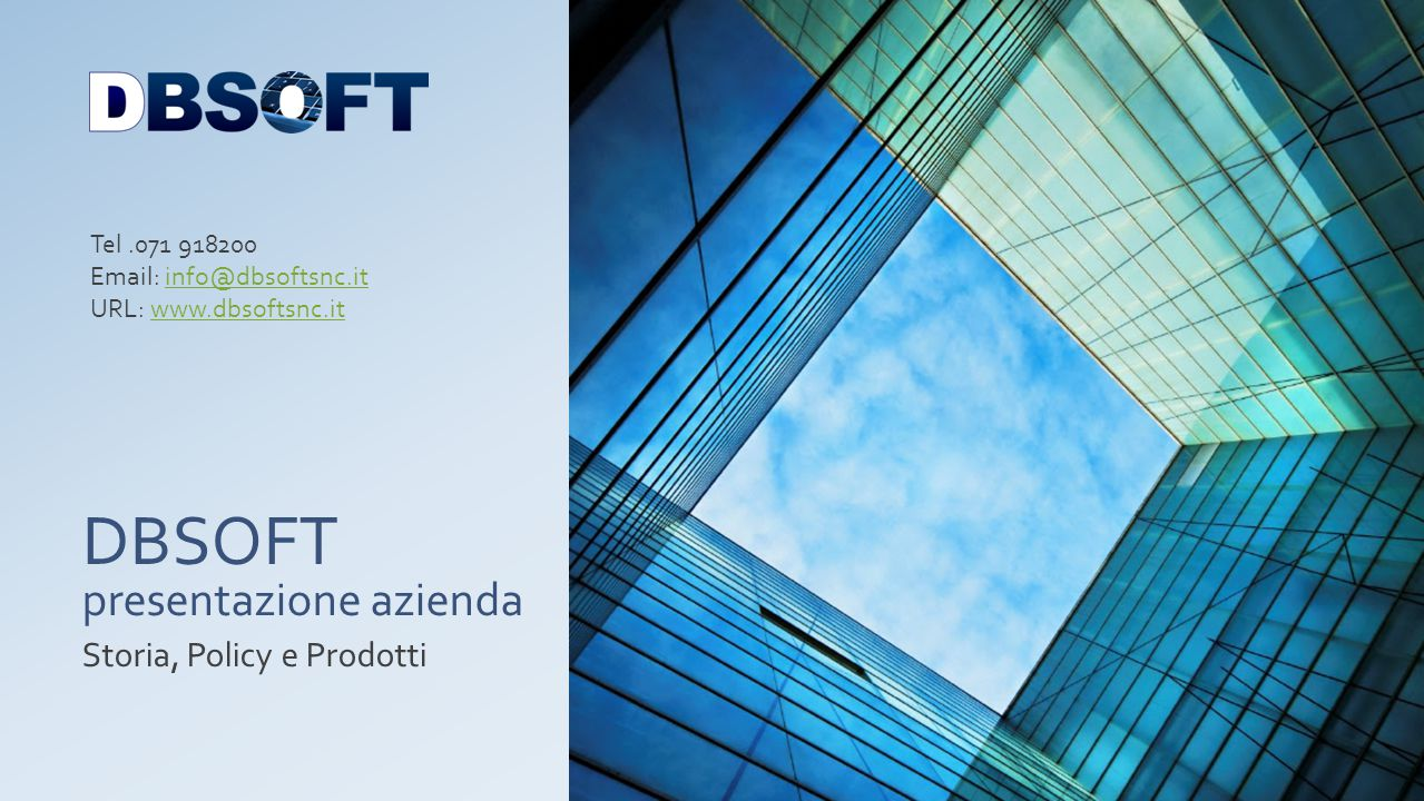 DBSOFT presentazione azienda