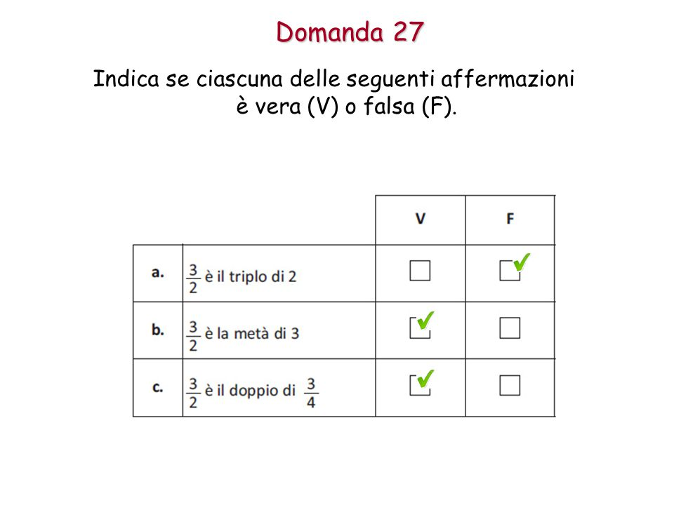 Indica se ciascuna delle seguenti affermazioni è vera (V) o falsa (F).