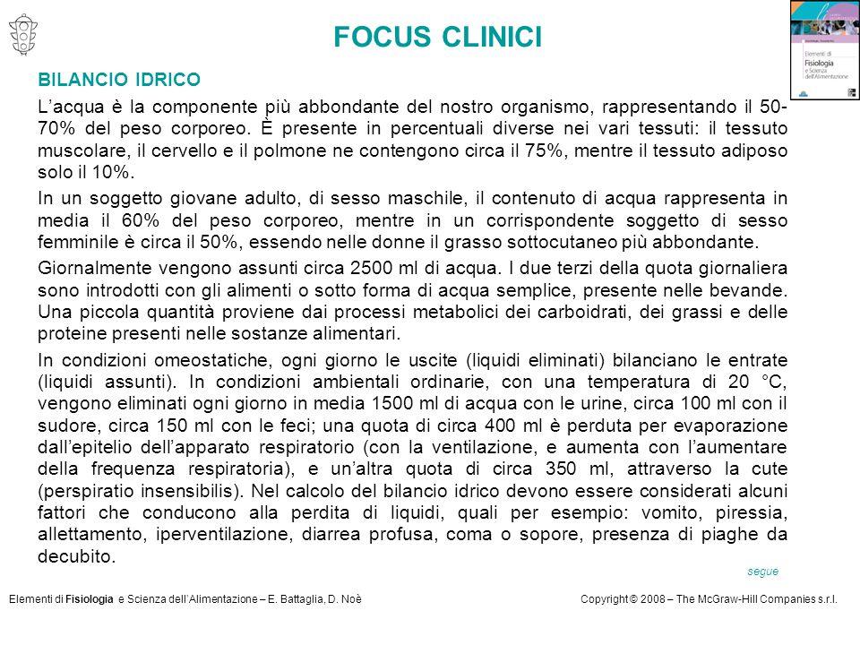 FOCUS CLINICI BILANCIO IDRICO