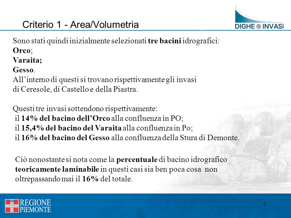 Criterio 1 - Area/Volumetria