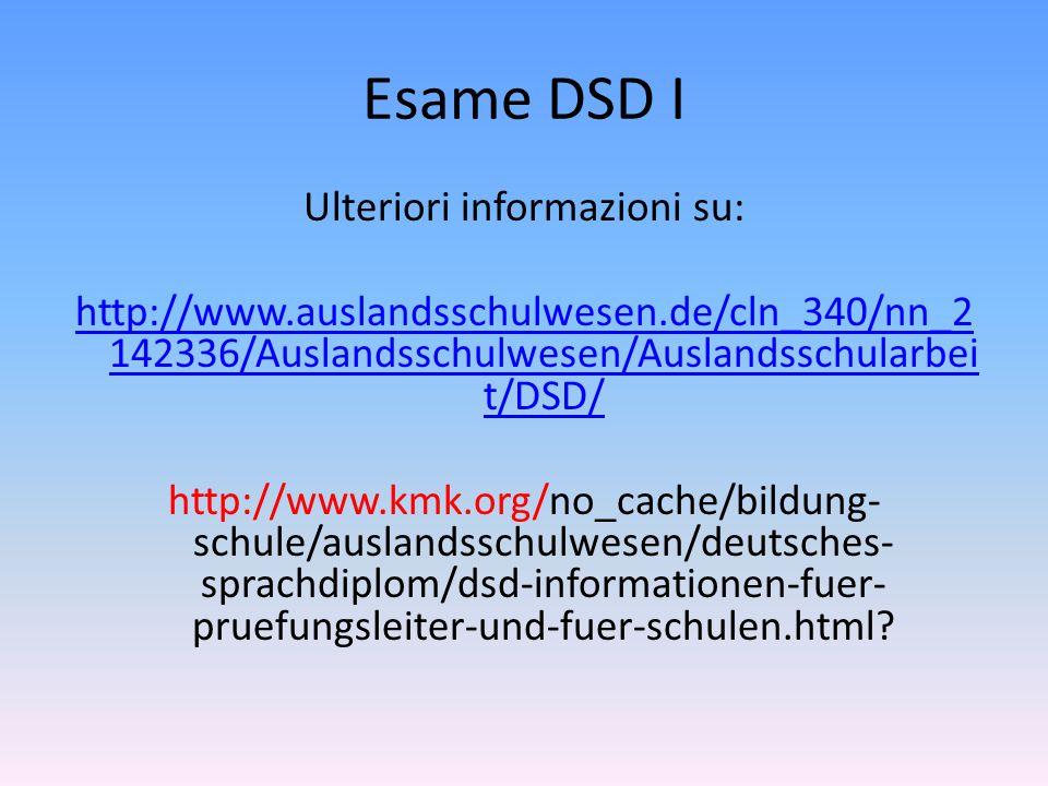 Ulteriori informazioni su: