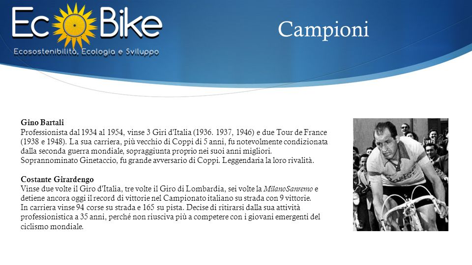 Campioni Gino Bartali.