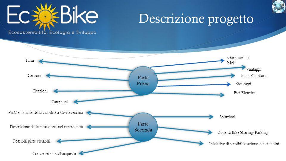 Descrizione progetto Parte Prima Parte Seconda Gare con la bici