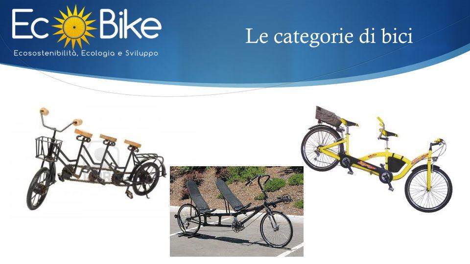 Le categorie di bici