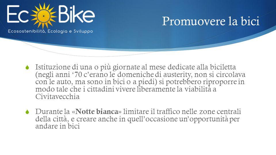 Promuovere la bici