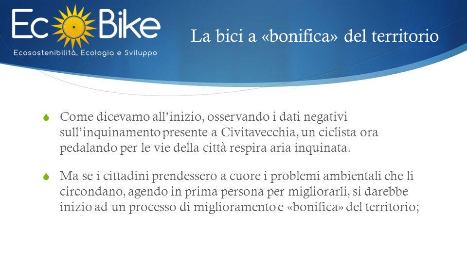 La bici a «bonifica» del territorio