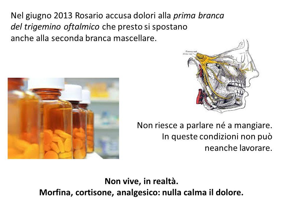 Morfina, cortisone, analgesico: nulla calma il dolore.