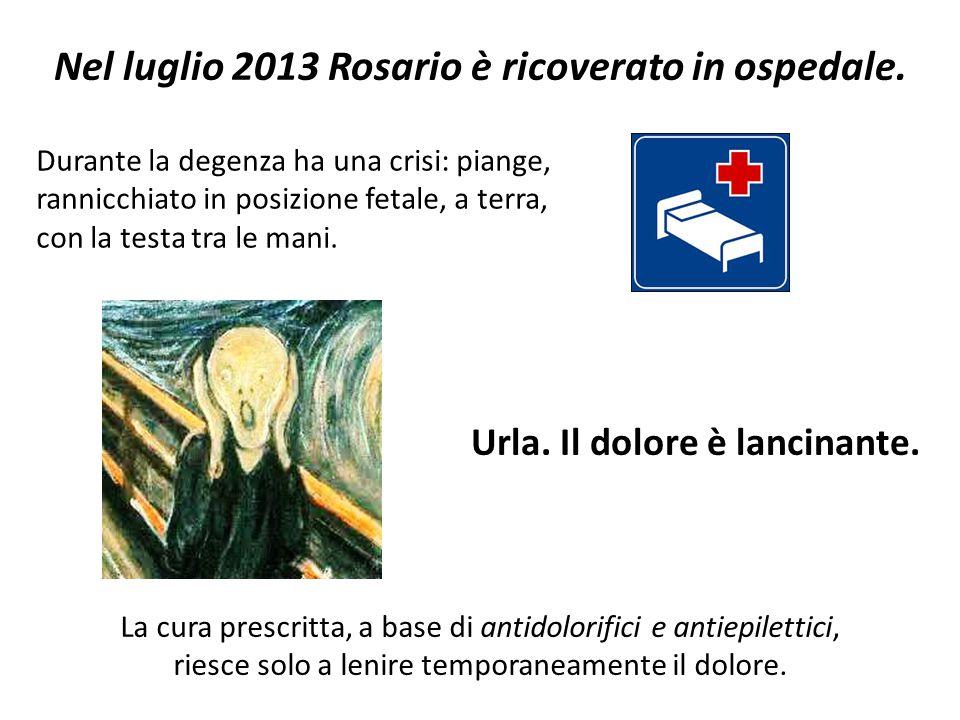 Nel luglio 2013 Rosario è ricoverato in ospedale.