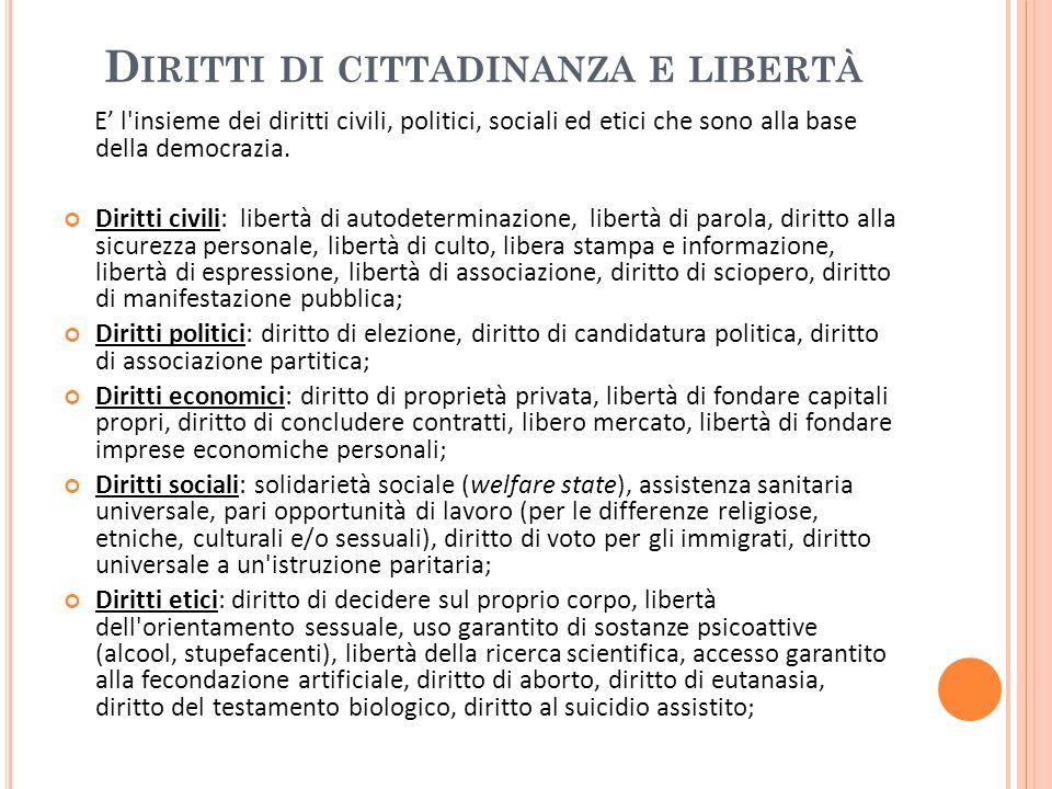 Diritti di cittadinanza e libertà