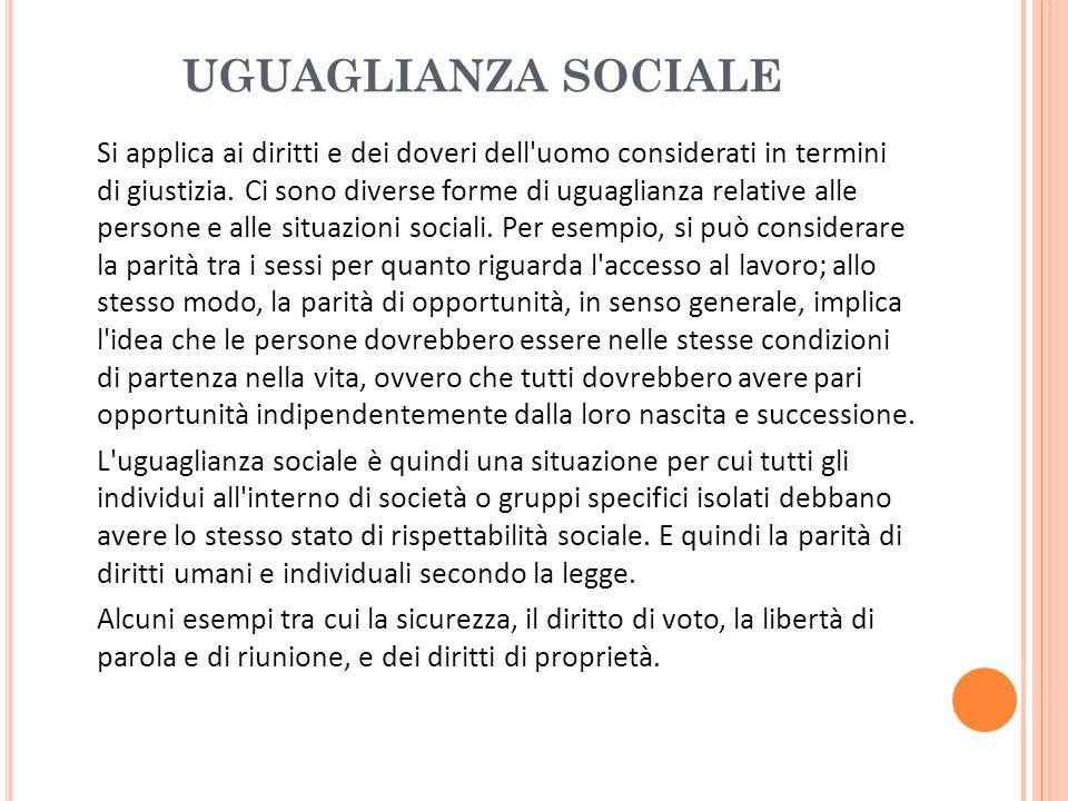 UGUAGLIANZA SOCIALE